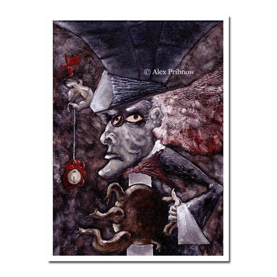 t.i.m.e.  f.o.r.  t.e.a. - Alice in wonderland mad hatter LIMITED EDITION fine art print