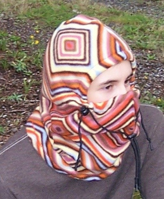 Multi colored Adult Fleece Balaclava Hat - Ski Mask - Winter Hat - Gift For Her - Gift For Him -