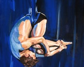 Giclee Print Dancer aerialist- Hip Key