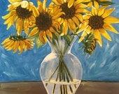 Print - Vase with Sunflowers