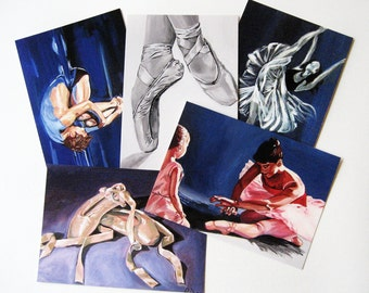 Dance Giclee Ballet Postcards - set of 5