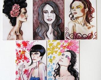 Portrait Postcards - set of 5