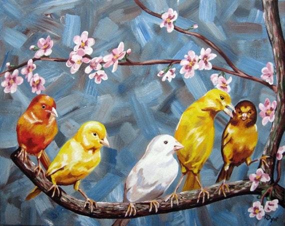 Bird Painting Print - Sunday Brunch