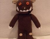 Hand knitted Gruffalo doll