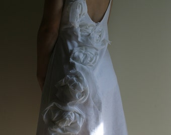 SAMPLE SALE/S/-50%/Linen Wedding Dress Alternative Wedding Dress