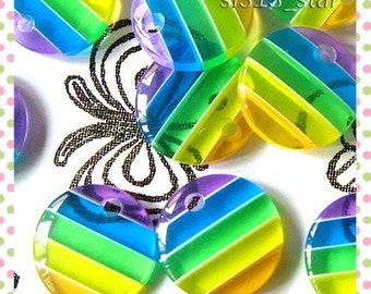 10pcs of Multi Color Stripes Lucite Drop Beads