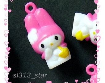 4pcs of My Melody Plastic Charms