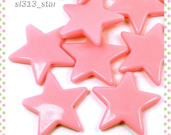 Wholesale 72pcs Acrylic Star Beads, 22mm, Opaque Pink