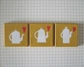 Three Teapots, paintings