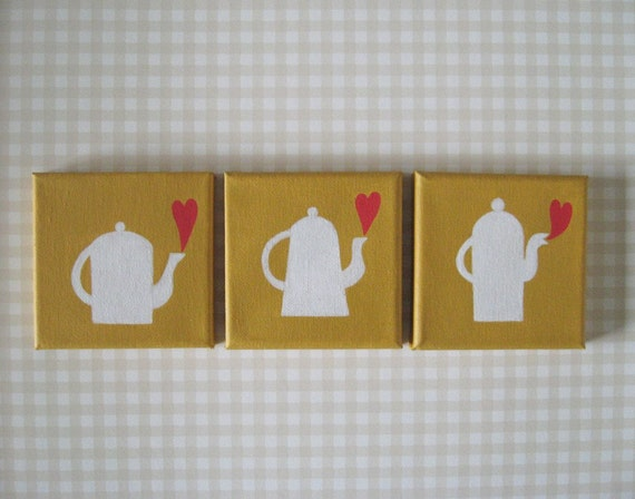 Three Teapots, paintings