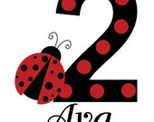 Ladybug Birthday Polka Dot TShirt or Onesie by The Trendy Butterfly