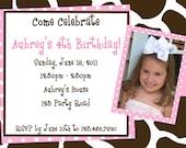 Cow Print Birthday Invitation Cow Print Birthday Party Invite Printable