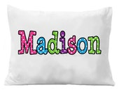 Pillowcase, Personalized Pillowcase , Birthday Gift, Graduation Gift ,  Personalized Standard Bedding Boys or Girls