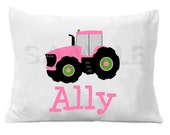 Tractor Personalized Pillow Case Personalized Pillowcase Boys or Girls