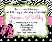 Ladybug Birthday Invitation Ladybug Birthday Party Invite Ladybug Birthday Invitation Printable