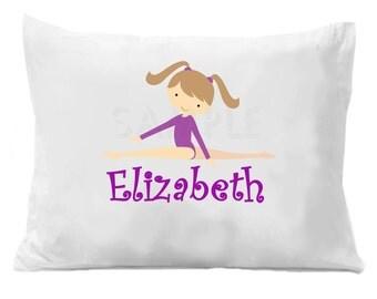 Gymnastics Pillow Case Personalized Gymnastics Pillowcase Girls