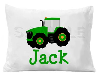 Farm Tractor Pillow Case Personalized Pillowcase Boys or Girls