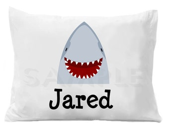 Shark Pillow Case Personalized Pillowcase
