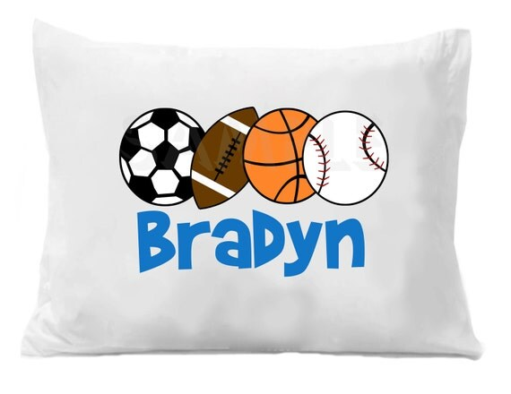 Sports Pillow Case , Soccer , Baseball , Basketball , Football Pillow Case