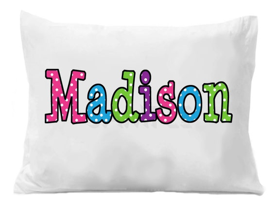 Pillowcase, Personalized Pillowcase , Birthday Gift, Graduation Gift ,  Personalized Standard Bedding Boys or Girls