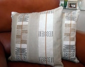 2 cushion covers cotton textile geometric design 18 inch