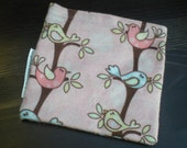 Eco Friendly-Sandwich-Reusable-Snack-pouch-Birds-pink