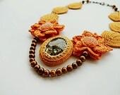 Irish Crochet Lace Jewelry (Secret Garden) Necklace