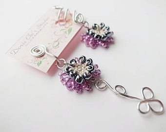 Crochet Jewelry (Chic II)Crochet Earring & Ear Cuff Set, Clip Earrings