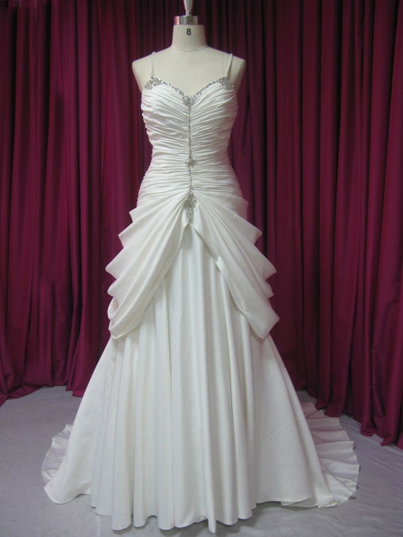 Items similar to flapper wedding dress 20s style in satin for 20 style wedding dresses