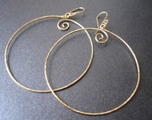 Interchangeable Earrings EXTRA LARGE CIRCLE Hammered Hoops in Sterling Silver, 14k Gold Filled, Oxidized Silver, Rose Gold with Free Drops