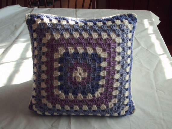 "Pillow  Grannysquare  14 "" x 14 """