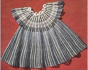 Girl's Party Dress Vintage crochet PDF pattern bd7