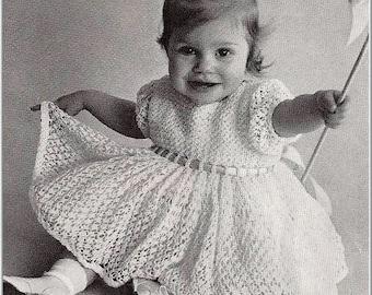 Vintage crochet pattern PDF Baby Toddler Girl  Dress bd1