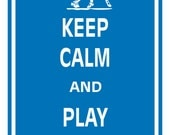 Print PosterKeep Calm and Play LaCrosse - 11x17 Poster Buy 1 Get 1 Free Sale Print Poster