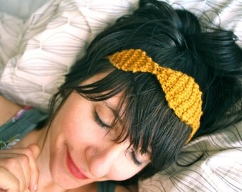 Perle Knit Crown Headband, Necklace or Belt - Sun Gold