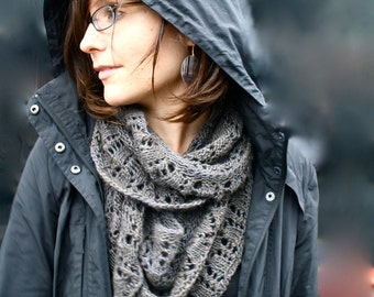 Cowl KNITTING PATTERN PDF File- Lace Circle Scarf, Cowl, Snood - Balustrade
