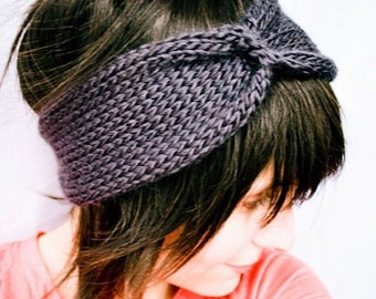 KNITTING PATTERN PDF Document - Ingenue Turban Headwrap
