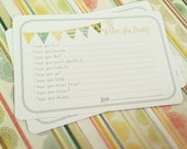Neutral Wishes for Baby Cards - Unique Baby Shower Activity Game or Memory Book Idea - Set of 75 - Yellow and Green