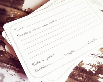 Parenting Advice and Wishes Guest Book Alternative Cards - Bridal Shower Activity - Gender Neutral