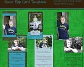 Senior Rep Cards - BRYCE SENIOR COLLECTION - Templates for Photographers - 2 x 3.5 inches
