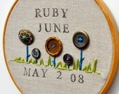 Personalized Birth Date and Baby Name - An Heirloom Gift