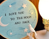 I Love You To The Moon And Back - Wall Art