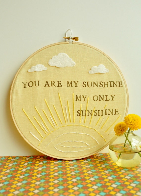 You Are My Sunshine My Only Sunshine - Modern Baby Heirloom Gift