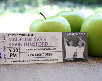 Save The Date Concert Ticket Magnet