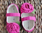 Baby Shoes Toddler Shoes Soft Soled Shoes Infant Shoes Spring Shoes Summer Shoes Linen Shoes Pink Shoes -Fuchsia Fun