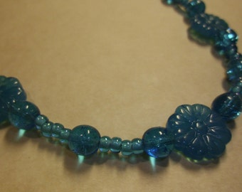 True Blue Necklace, 17 inches