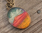Desert Painted Hills- Hand Drawn Necklace