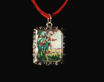 Ocotillo Cactus- Original Art Necklace