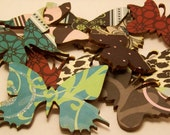 Package of 10 Glamorous Mat Paper Finished Wood Butterfly Shapes