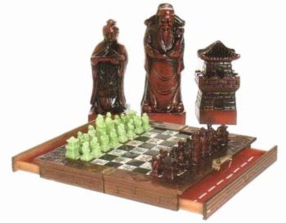 19x19 Han Dynasty Chinese Chess Set Board N Soapstone Pieces